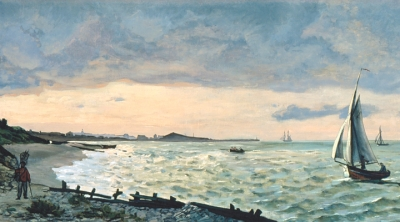 Detail: Frédéric Bazille (French, 1841–1870), The Beach at Sainte-Adresse, 1865, oil on canvas, High Museum of Art, gift of the Forward Arts Foundation in honor of Frances Floyd Cocke, 1980.62